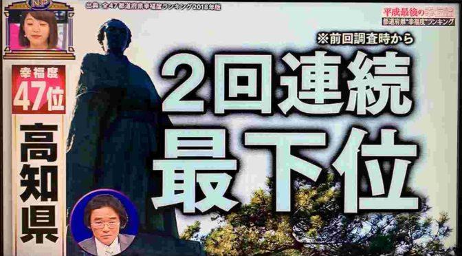 都道府県幸福度ランキングで高知県が2回連続最下位な理由。